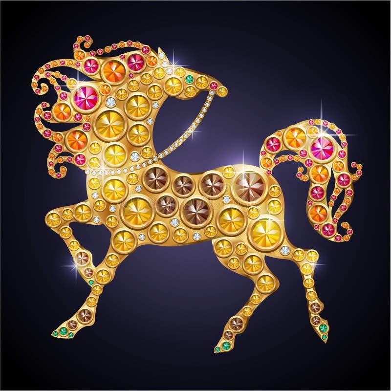 Skina häst royaltyfri illustrationer