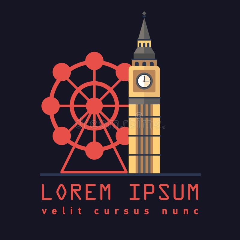 Symbol av det London tornet Big Ben royaltyfri illustrationer
