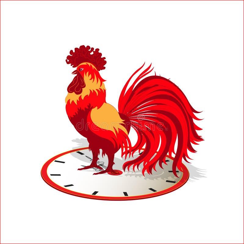 Symbol av det nya året - en röd tupp arkivfoto