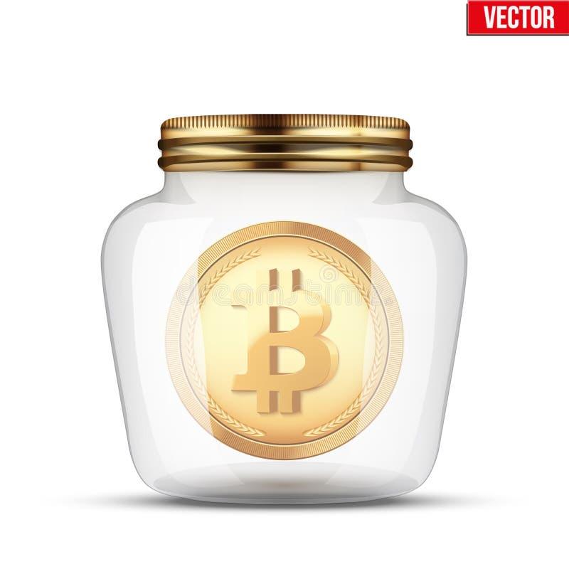 Symbol av digitala cryptocurrencypengar för räddning royaltyfri illustrationer