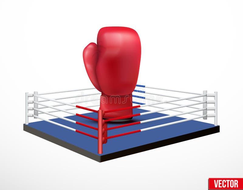 Symbol av en boxning och en proffsboxning royaltyfri illustrationer