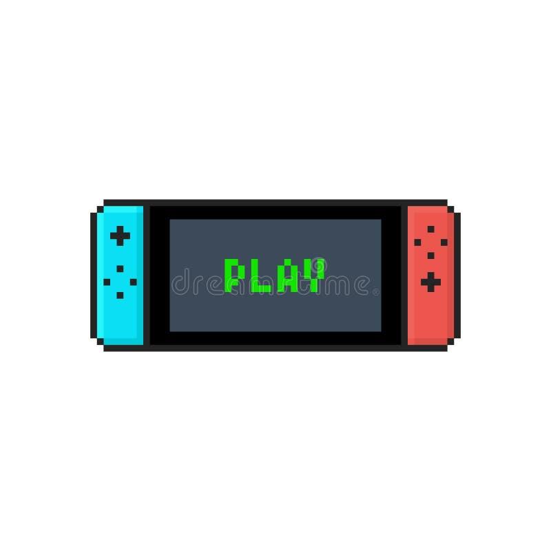 Symbol av en mobil video konsol vektor för digitalt för familj för konst seamless lyckligt för illustration PIXEL för modell vektor illustrationer
