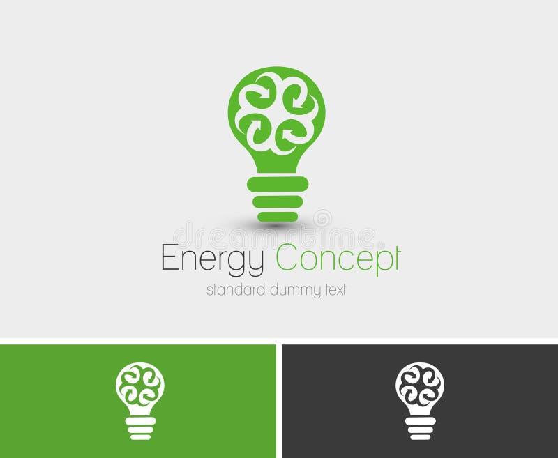 Symbol av energibegreppet vektor illustrationer