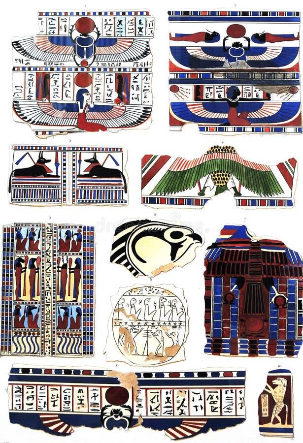 Symbol av forntida egypt fotografering för bildbyråer