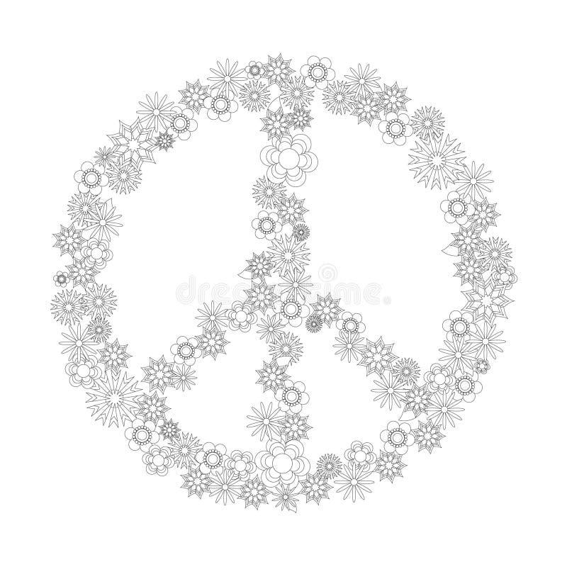 Symbol av fred från blommor arkivfoto