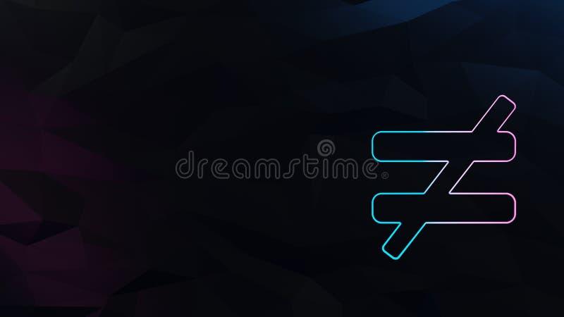 symbol av inte jämbördig vektor illustrationer