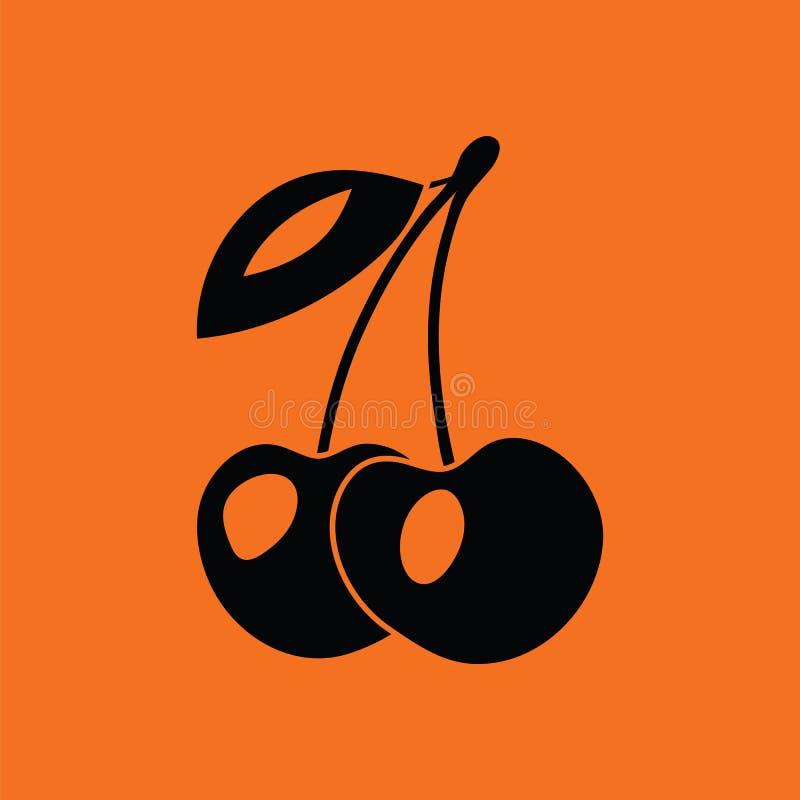 Symbol av körsbäret vektor illustrationer