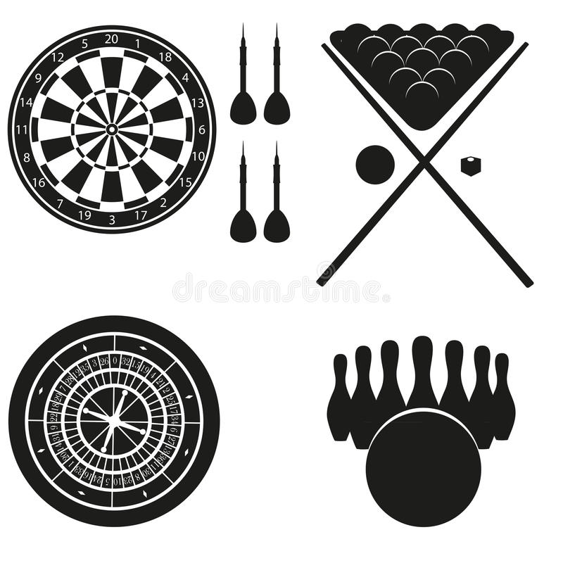 Symbol av lekar för fritid royaltyfri illustrationer