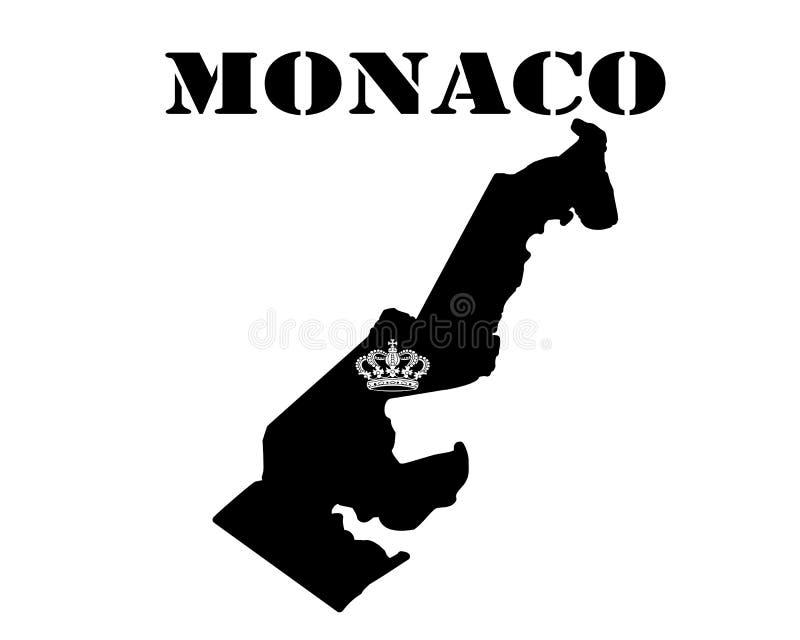 Symbol av Monaco och översikten royaltyfri illustrationer