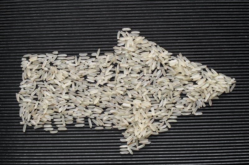 Symbol av pilen av ris arkivfoton