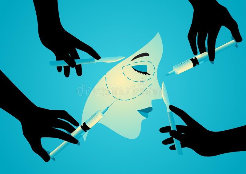 Symbol av plastikkirurgi royaltyfri illustrationer
