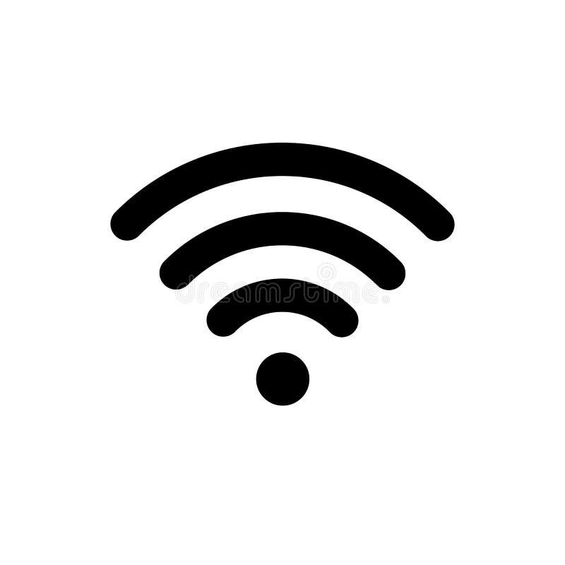 Symbol av signalen för smartphone Symbol av signalen på isolerad vektorbakgrund stock illustrationer
