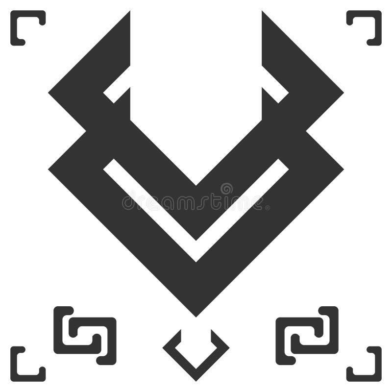 Symbol av svart magi i världen stock illustrationer