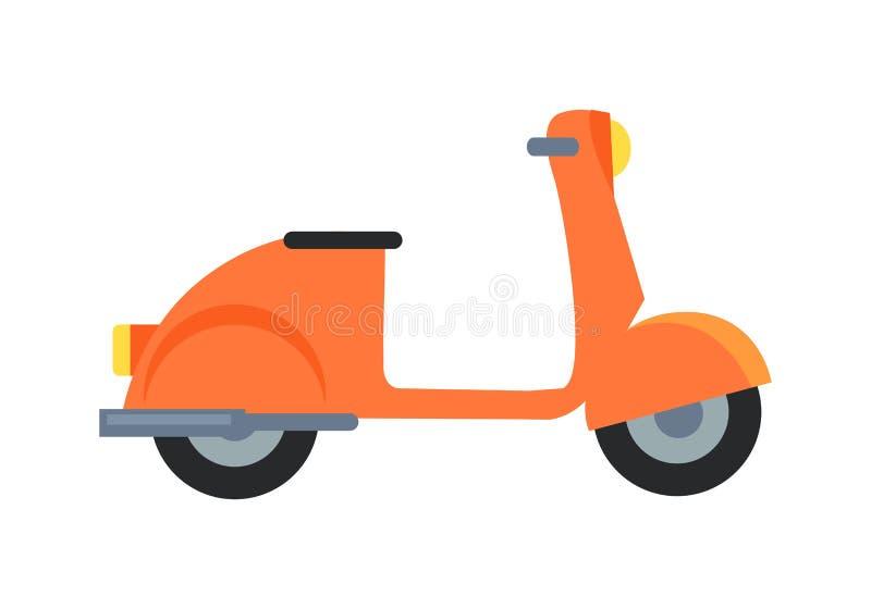 Symbol av vektorillustrationen för motorisk sparkcykel vektor illustrationer