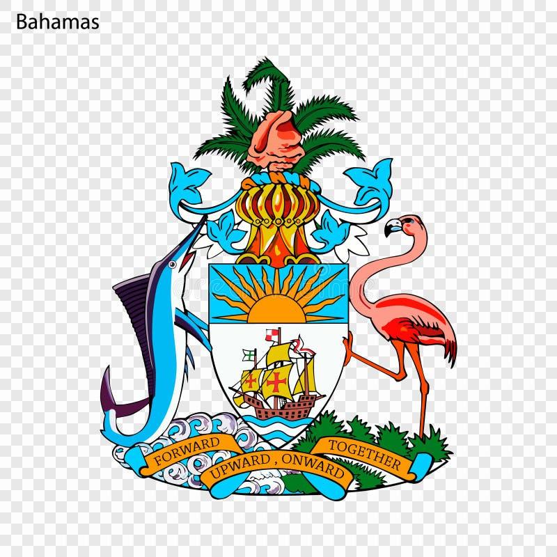Symbol of Bahamas. National emblem vector illustration