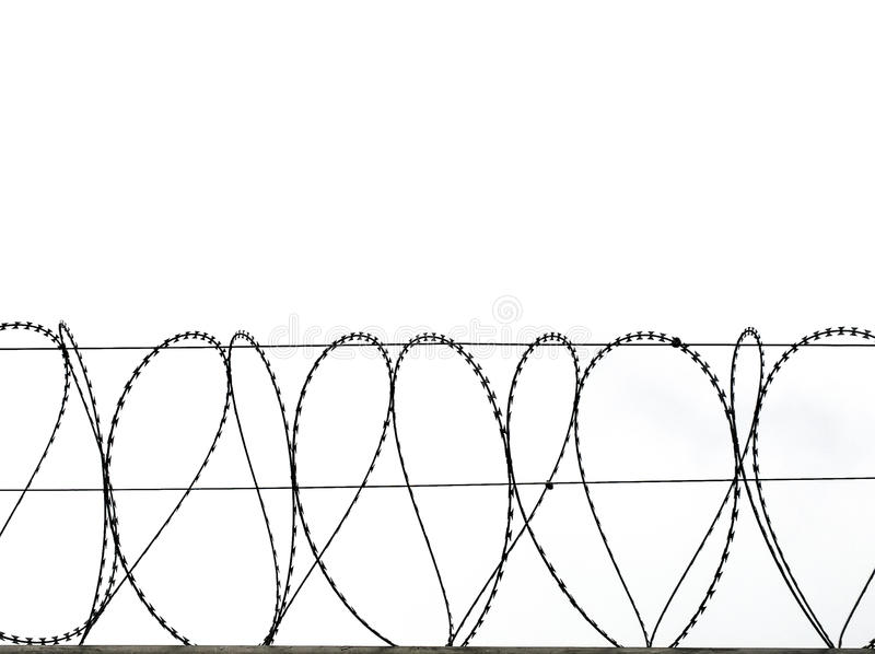 Symbol Of Barbed Wire Wall Is Symbol Of Freedom Stock Photo - Image ...