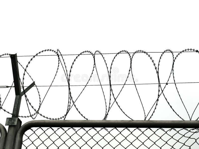 Symbol Of Barbed Wire Wall Is Symbol Of Freedom Stock Image - Image ...