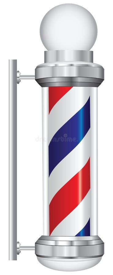 Symbol barber lamp royalty free illustration
