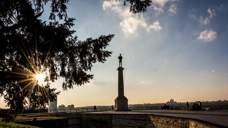 Symbol Belgrade - zwycięzca zdjęcie royalty free