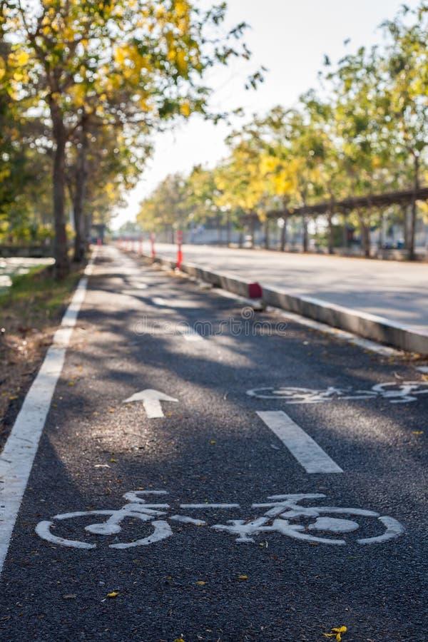 Symbol bike lane stock photography