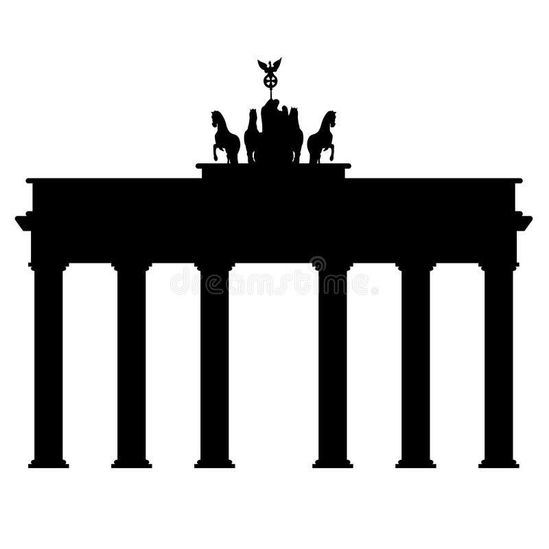 Symbol Brandenburg brama w Berlin na białym tle ilustracji