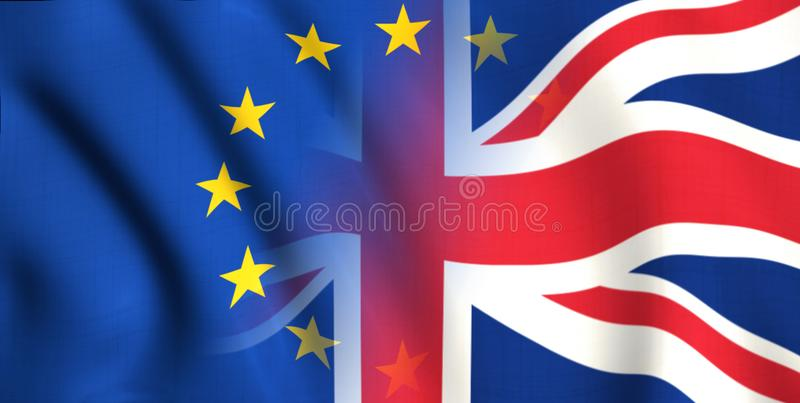 Symbol brexit Britain i Europe ilustracji