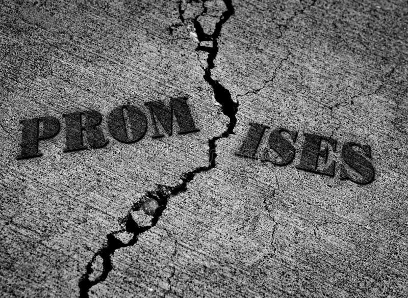 Symbol for Broken Promises royalty free stock photo