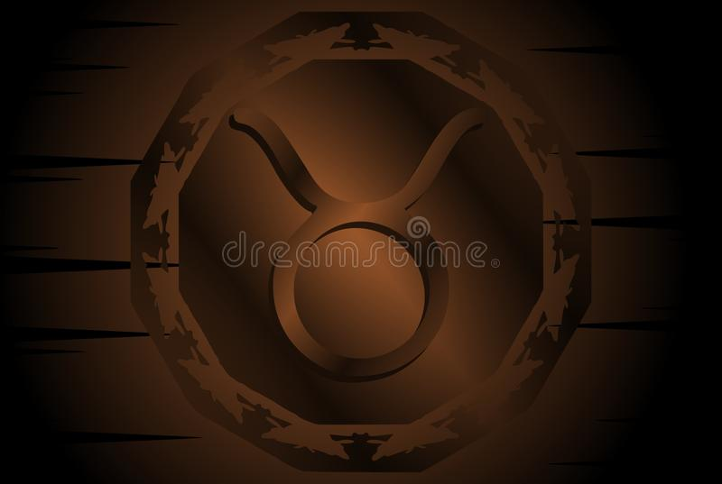 Symbol of bull sign on background. Image representing the symbol of bull zodiac sign planet on a background. An image that can be used in different projects, not royalty free illustration