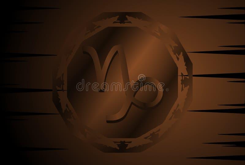 Symbol of capricorn zodiac sign on background. Image representing the symbol of capricorn zodiac sign planet on a background. An image that can be used in stock illustration