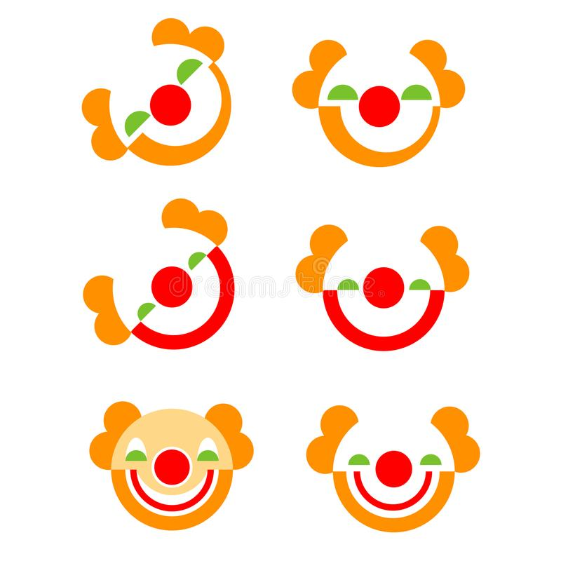 Set of Red nose icons in vector art design stock illustration