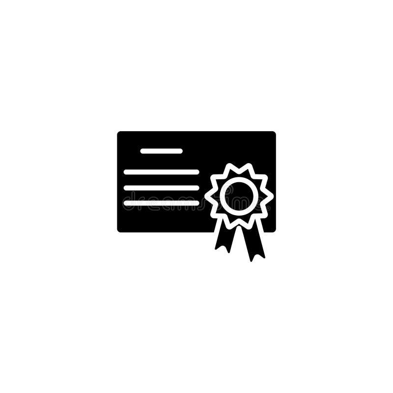 symbol Charter certifikatsymboltecken vektor illustrationer