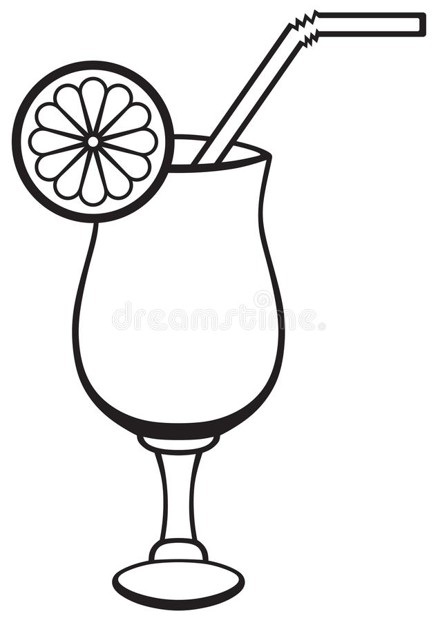 Symbol Cocktail Stock Vector Illustration Of Elegant