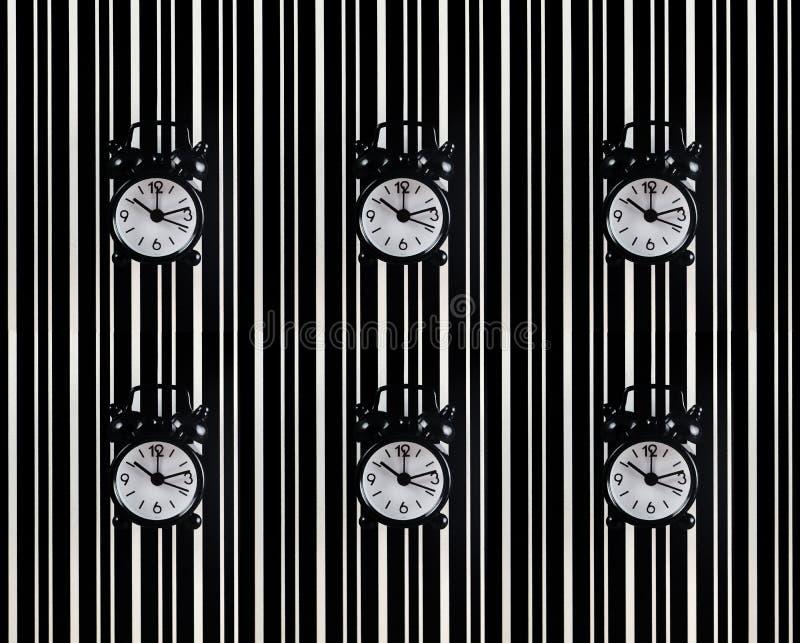 Symbol czas jest budzikiem na tle t fotografia royalty free