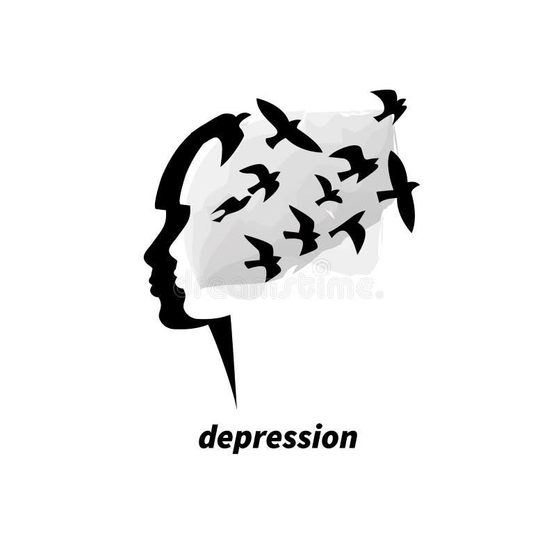 Symbol Of Depression Stock Vector Illustration Of Alone 87445407