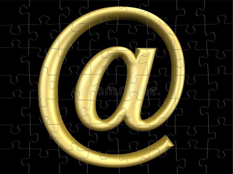 Symbol der eMail-3D lizenzfreie abbildung