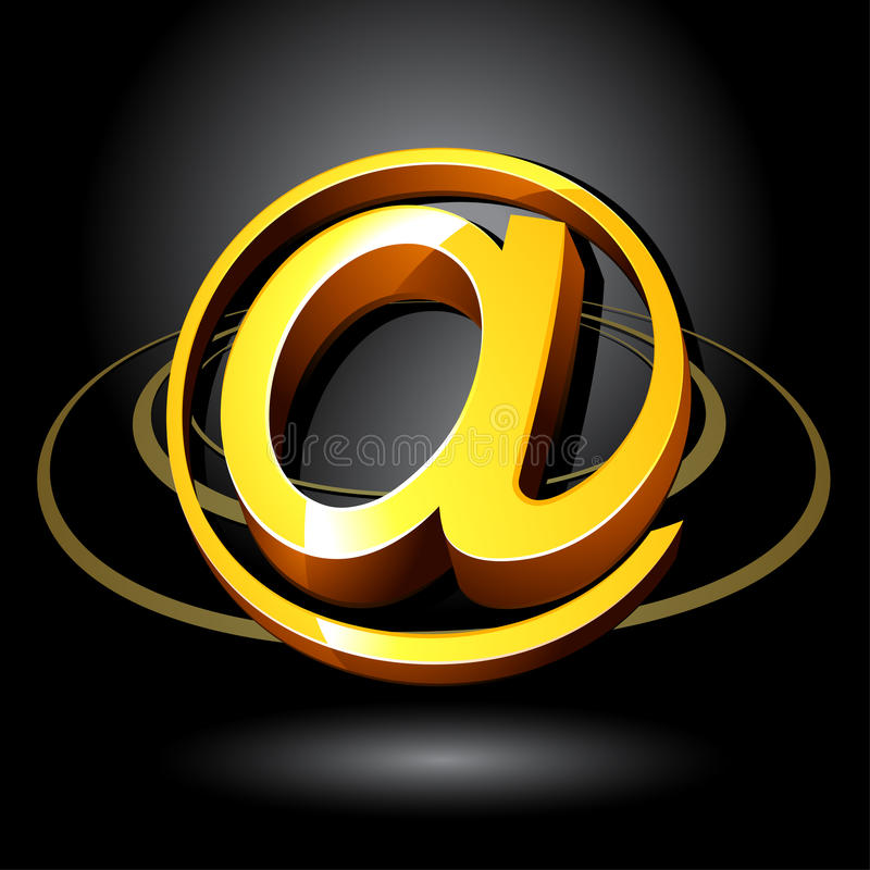 Symbol der eMail-3D vektor abbildung