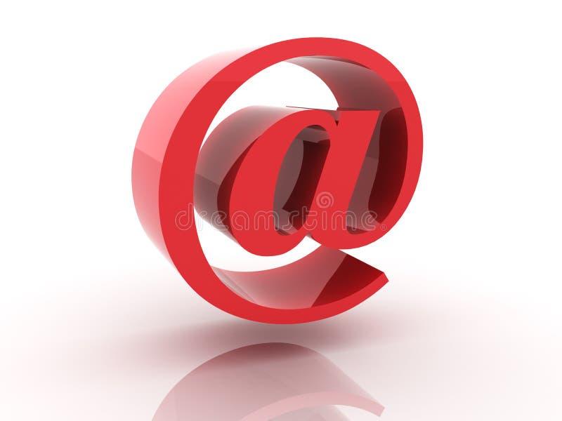 Symbol der eMail 3d lizenzfreie abbildung