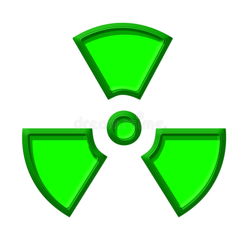 Symbol der Kerngefahr stock abbildung