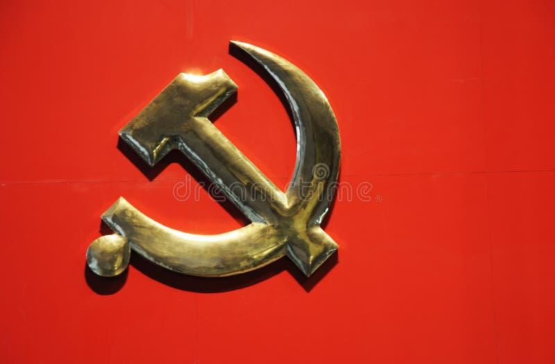 Symbol der kommunistischen Partei stockfotos