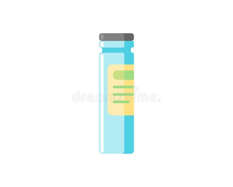 Symbol der medizinischen Ampulle auf weißem Grund isoliert Konzept der Impfinjektion Gesundheitsversorgung Flachmedizin lizenzfreie abbildung