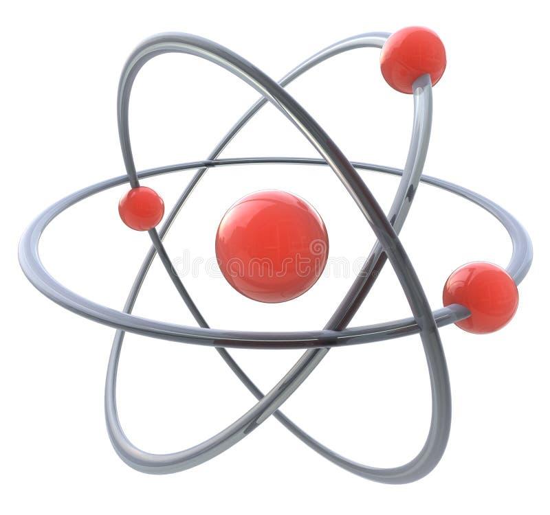 Symbol des Atoms 3d stock abbildung