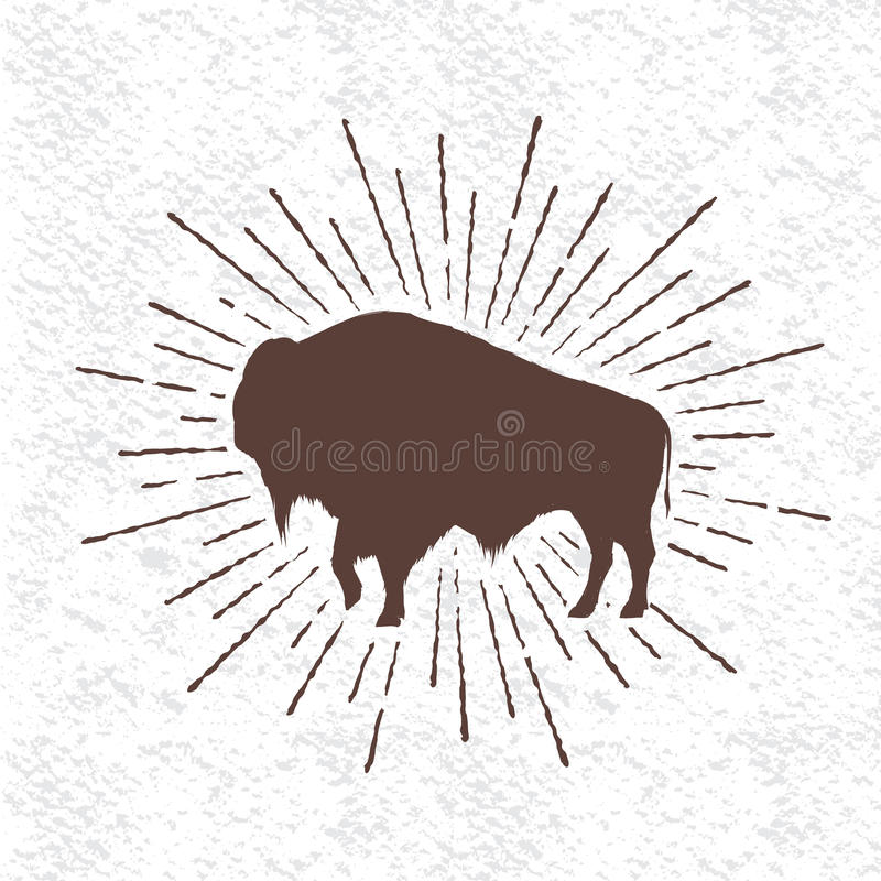 Symbol des Büffels lizenzfreie abbildung