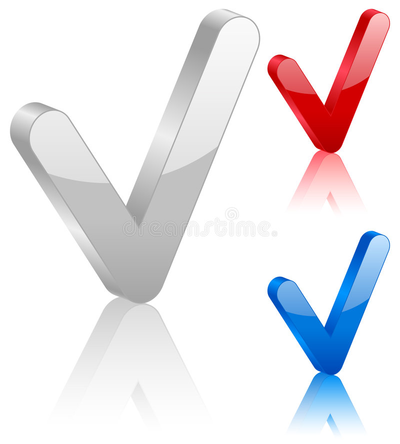 Symbol des Checks 3D stock abbildung