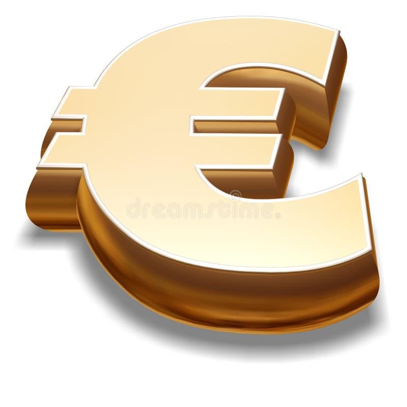 Symbol des Euro-3D vektor abbildung