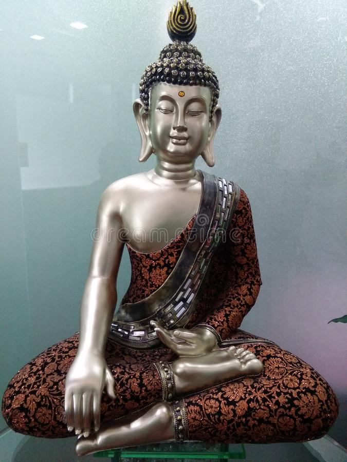 Symbol des Friedens, Buddha lizenzfreies stockfoto