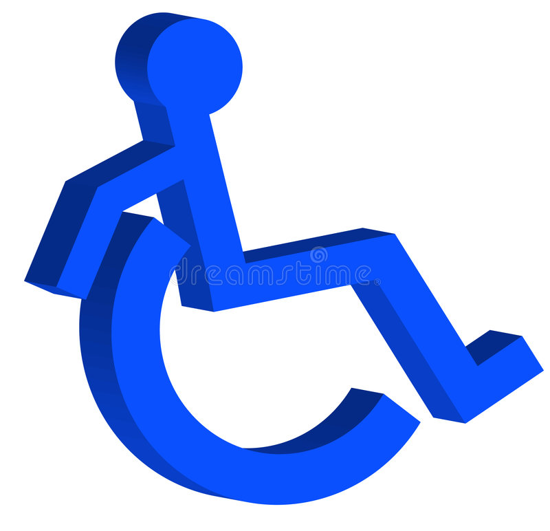 Symbol des Handikaps 3d stock abbildung
