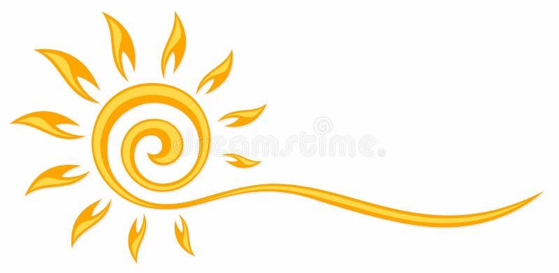 Symbol des hellen Sonnenscheins vektor abbildung