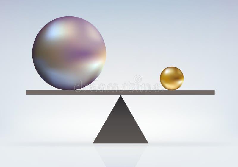 Symbol des Machtgleichgewichts, in dem das kleine bis das große gleichwertig ist vektor abbildung