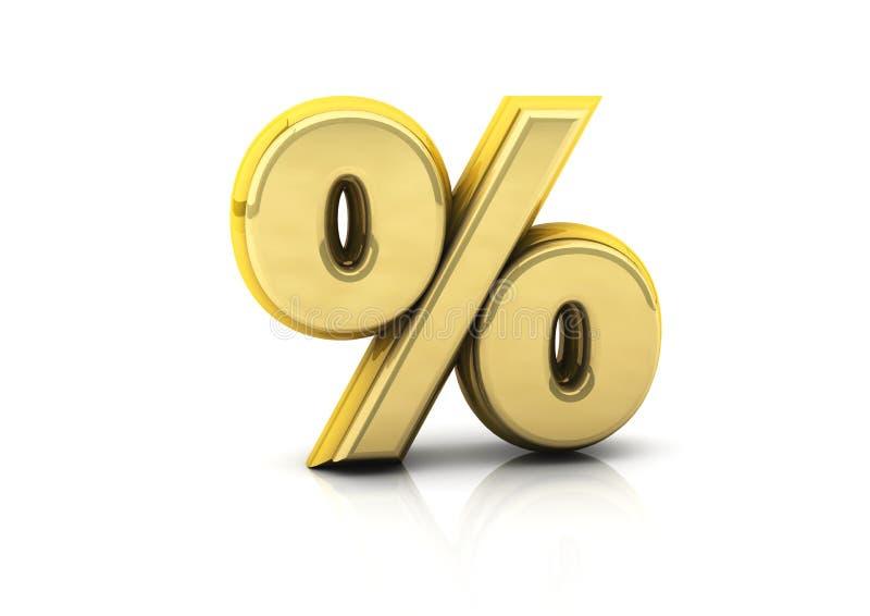 Symbol des Prozentsatzes 3d vektor abbildung