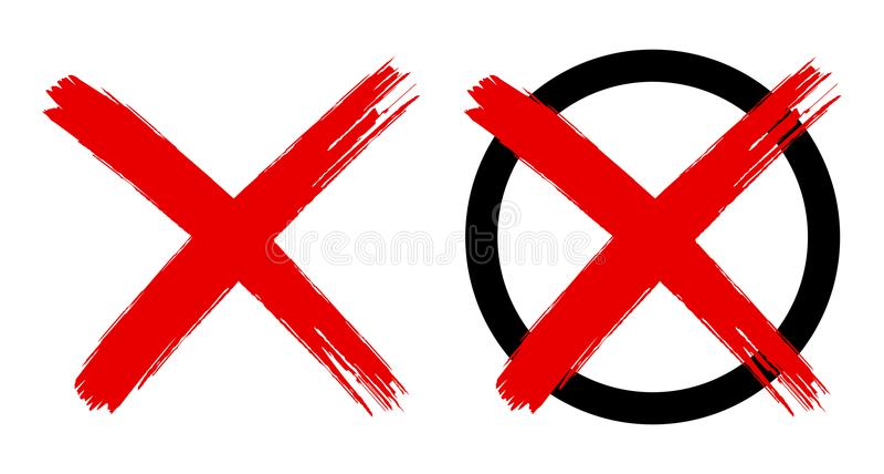 Symbol des roten Kreuzes lokalisiert lizenzfreie abbildung